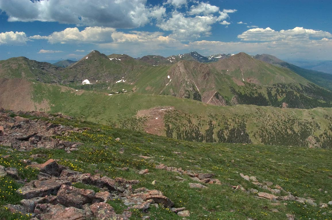 Alpine tundra on a slope of Colony Baldy Mountain in Sangre de Cristo Mountains. Colorado