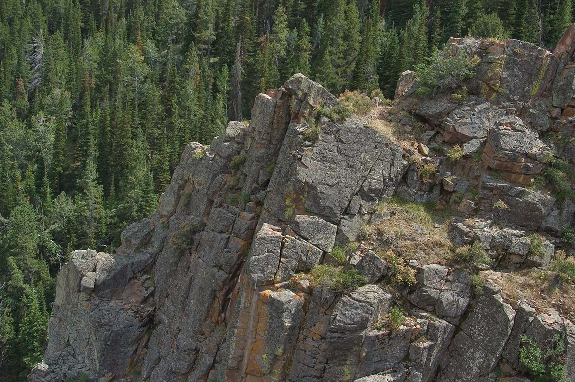 Above Garden Creek Waterfall in Casper Mountain, south from Casper. Wyoming