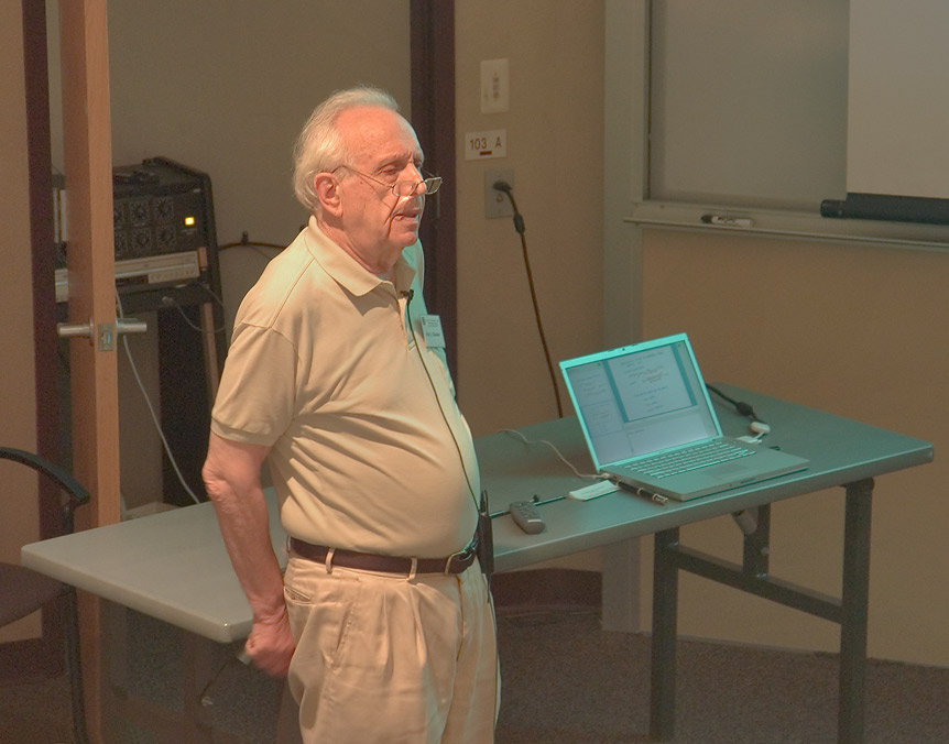 "A lecture of R. Glauber, ""Cooperative Spontaneous...at a physics workshop. Casper, Wyoming"
