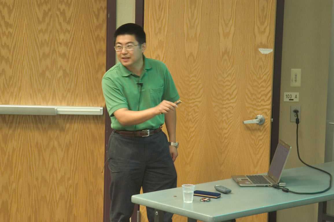 "A lecture of Yi Qin Gao, ""The non-statistical...at a physics workshop. Casper, Wyoming"