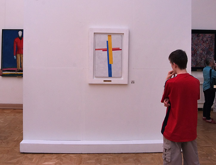 Paintings of Malevich in Russian Museum. St.Petersburg, Russia