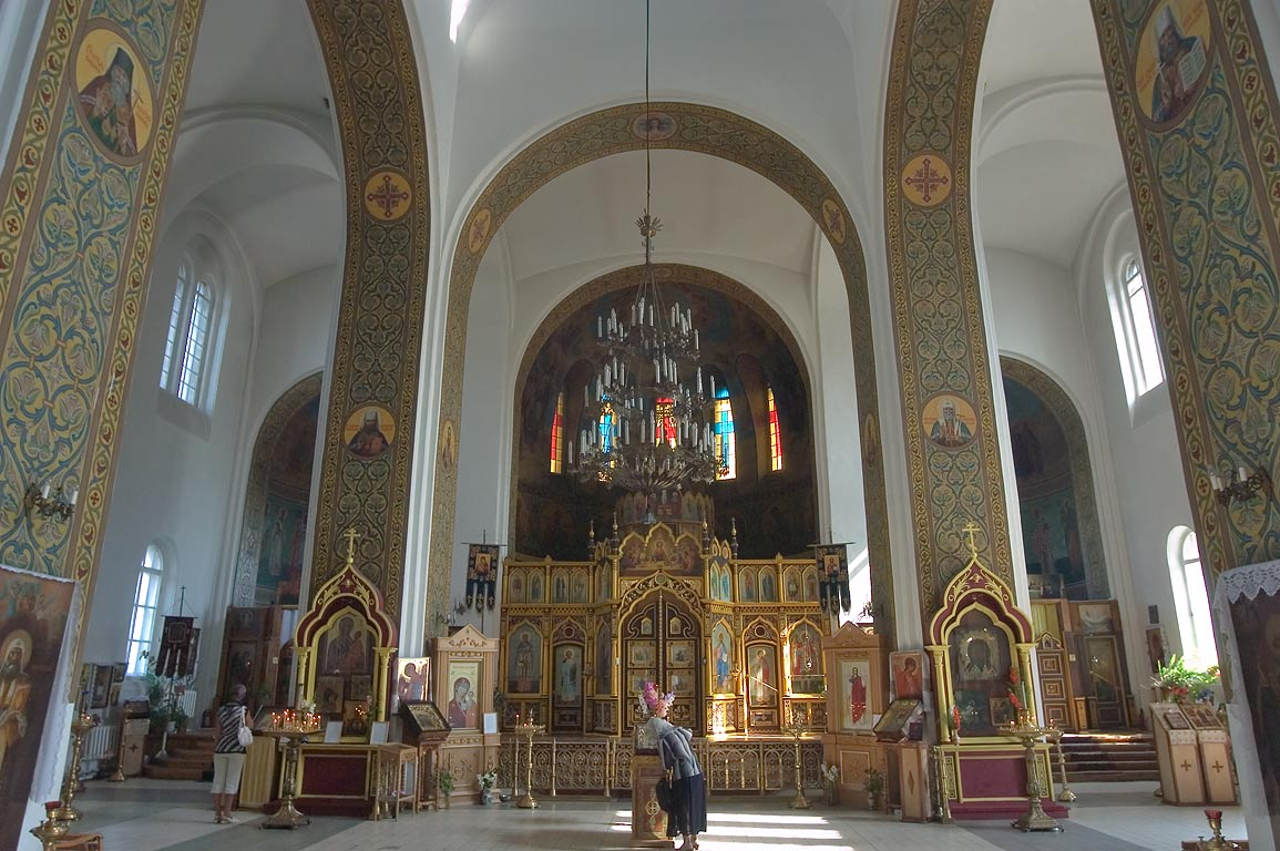 Interior of Cathedral of Michael Archangel in...West from St.Petersburg, Russia