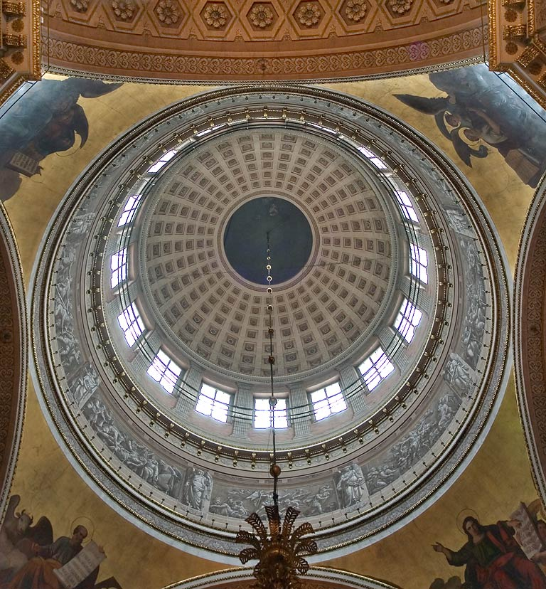 Interior of a dome of Kazansky Cathedral. St.Petersburg, Russia