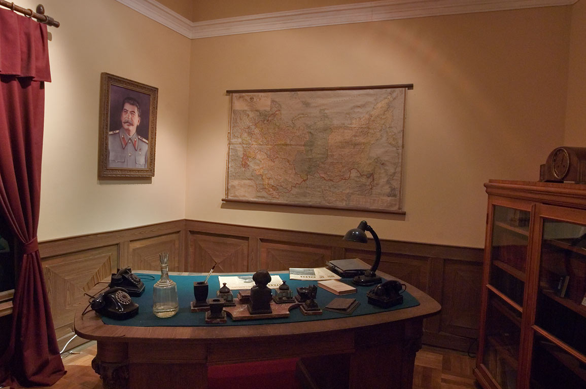 Reconstruction of Stalin style office in Museum...Mansion). St.Petersburg, Russia