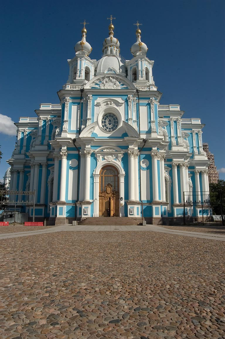 Smolny Cathedral. St.Petersburg, Russia