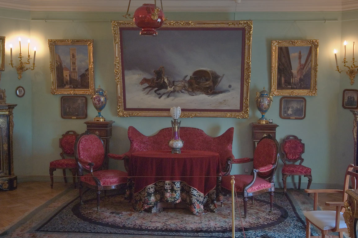 Living room in Pavlovsky Palace. Pavlovsk, a suburb of St.Petersburg, Russia