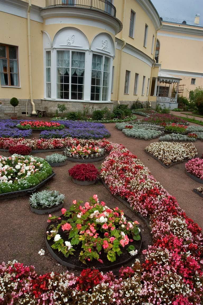 Flowerbeds in Impress Own Little Garden near...a suburb of St.Petersburg, Russia