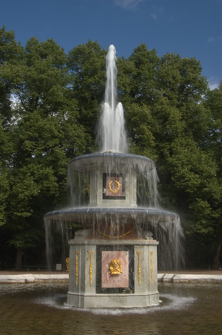 A fountain. Peterhof, a suburb of St.Petersburg, Russia