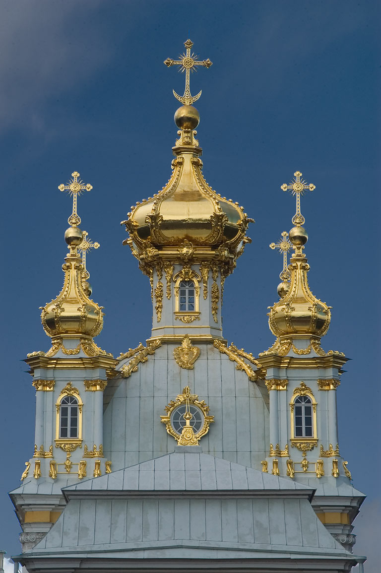 Grand Palace. Peterhof, a suburb of St.Petersburg, Russia