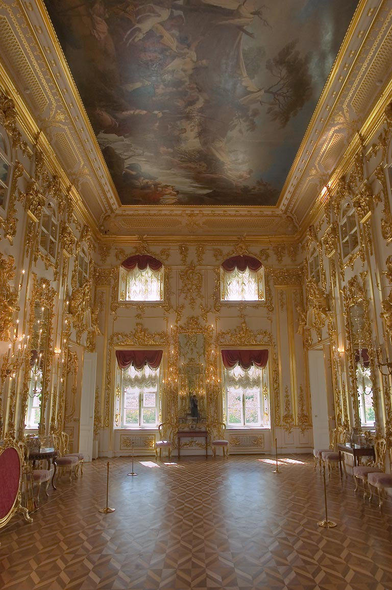 A hall in Grand Palace. Peterhof, a suburb of St.Petersburg, Russia