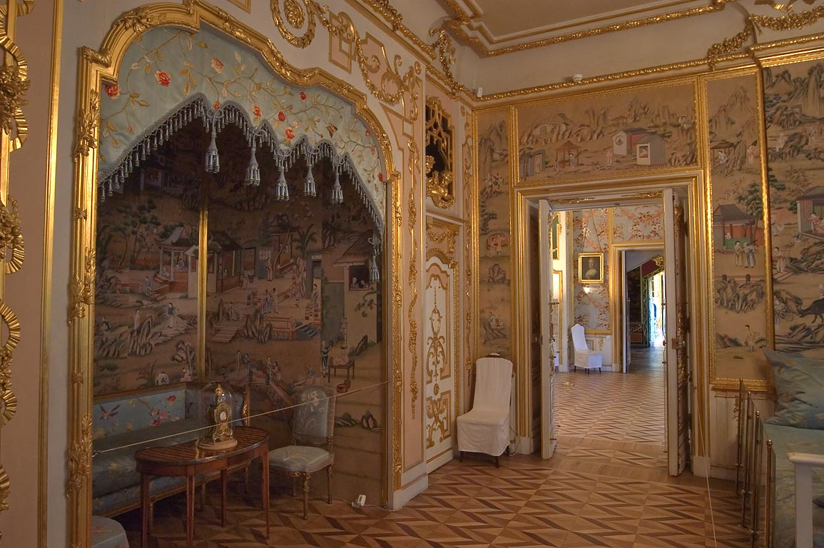 Bedroom in Grand Palace. Peterhof, a suburb of St.Petersburg, Russia