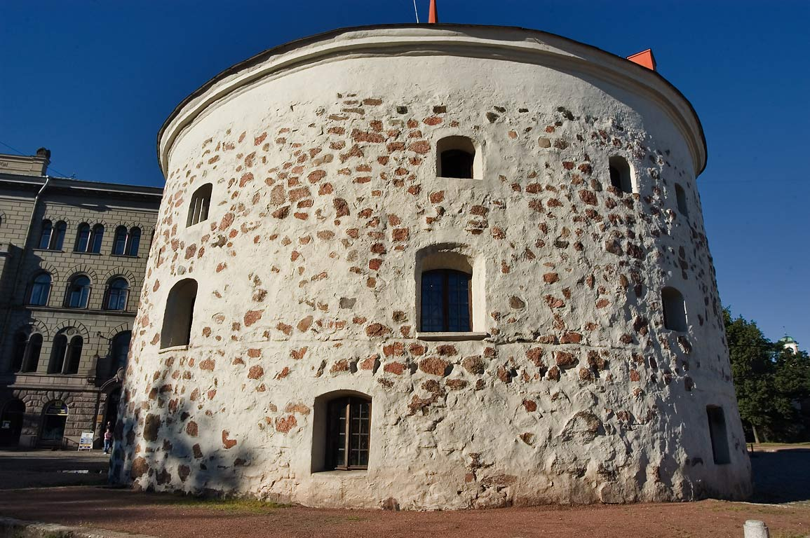 Round Tower in Old City. Vyborg, Russia