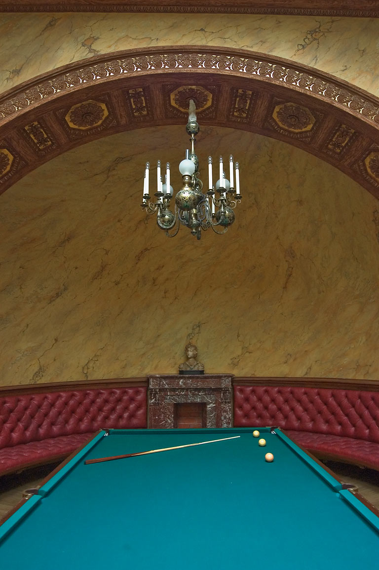 Billiards room in Yusupov Palace. St.Petersburg, Russia