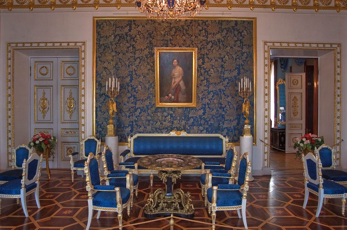 Blue Parlor of Yusupov Palace. St.Petersburg, Russia