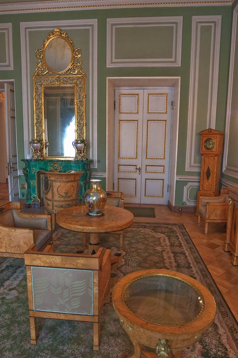Green Parlor of Yusupov Palace. St.Petersburg, Russia