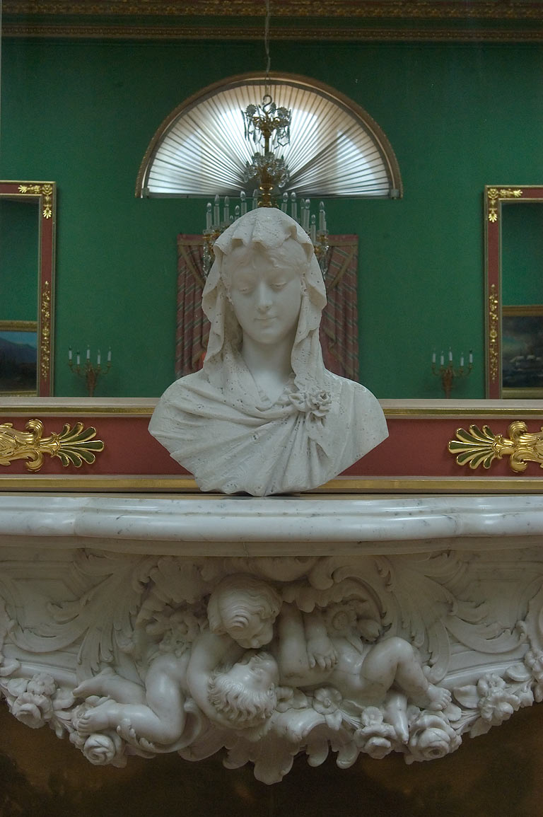Statue in Precious Room of Yusupov Palace. St.Petersburg, Russia