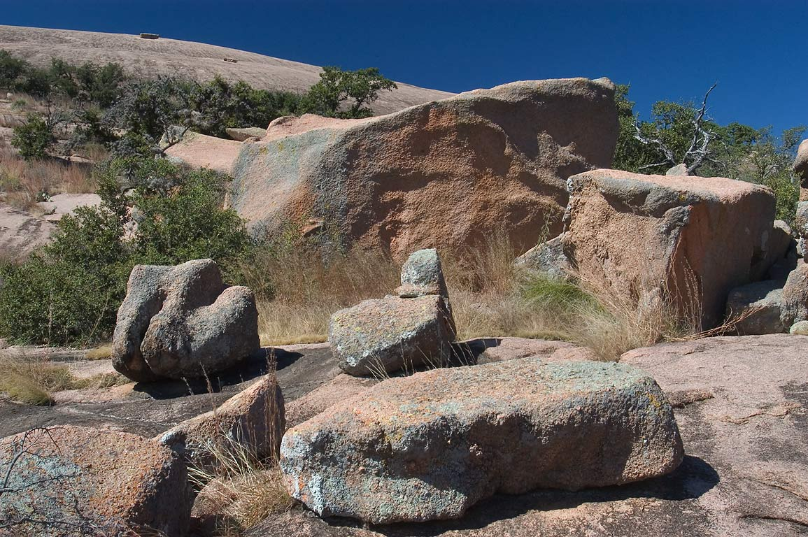 Weathering of rocks near Turkey Pass Trail in...Natural Area. Fredericksburg, Texas