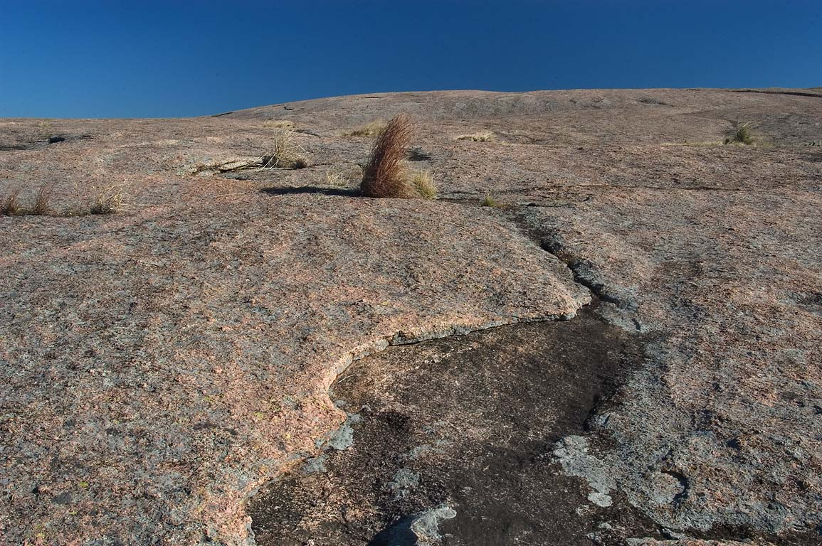 Crass (product of weathering) on Enchanted Rock...Natural Area. Fredericksburg, Texas