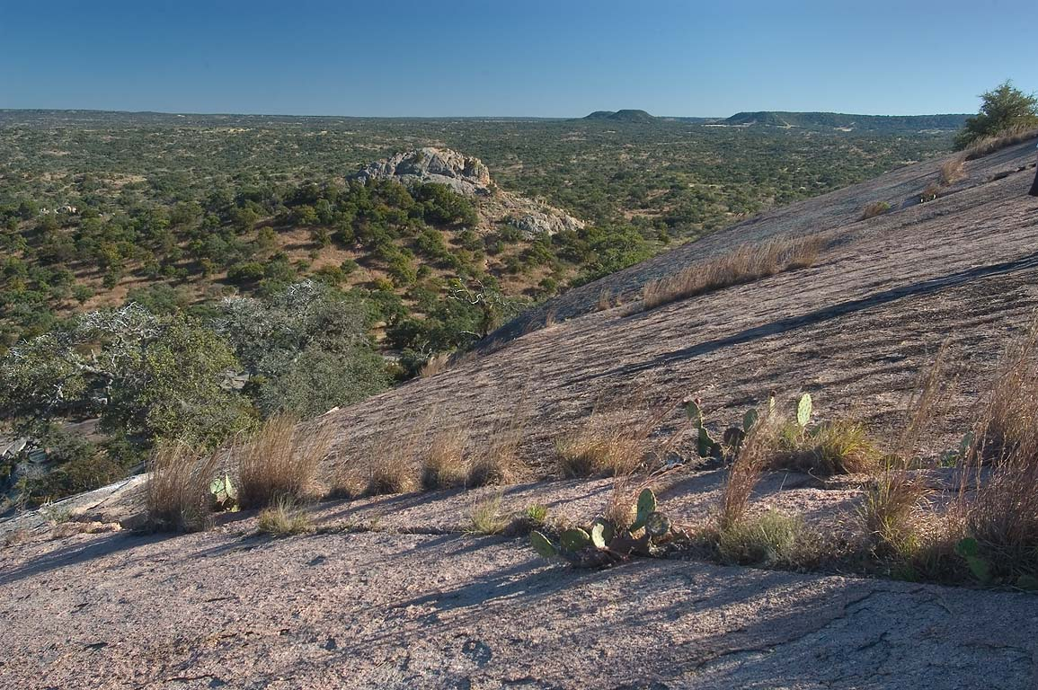 View to the north from Enchanted Rock in...Natural Area. Fredericksburg, Texas