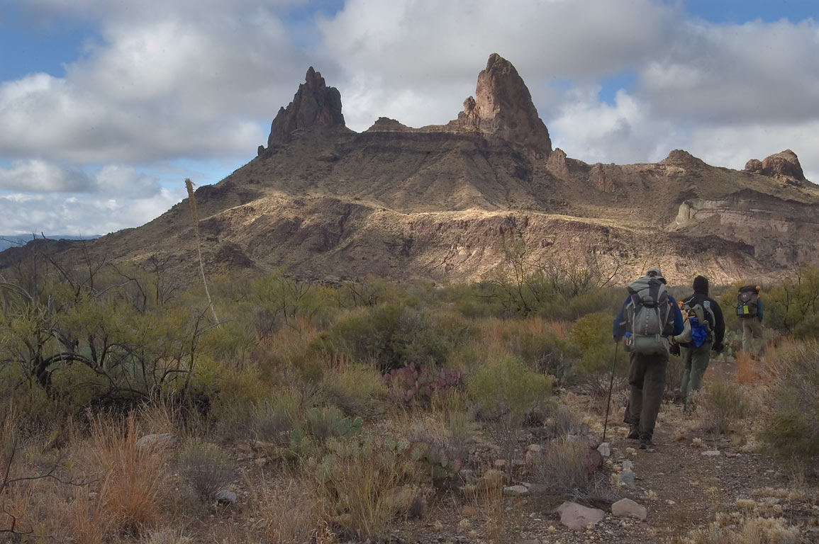 Mule Ear Peaks from Smokey Creek Trail. Big Bend National Park, Texas