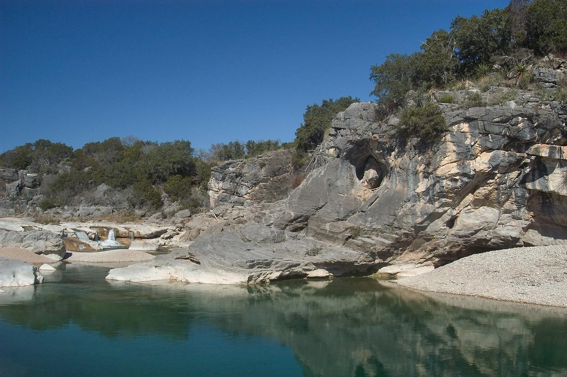 Lake above Pedernales Falls. Johnson City, Texas