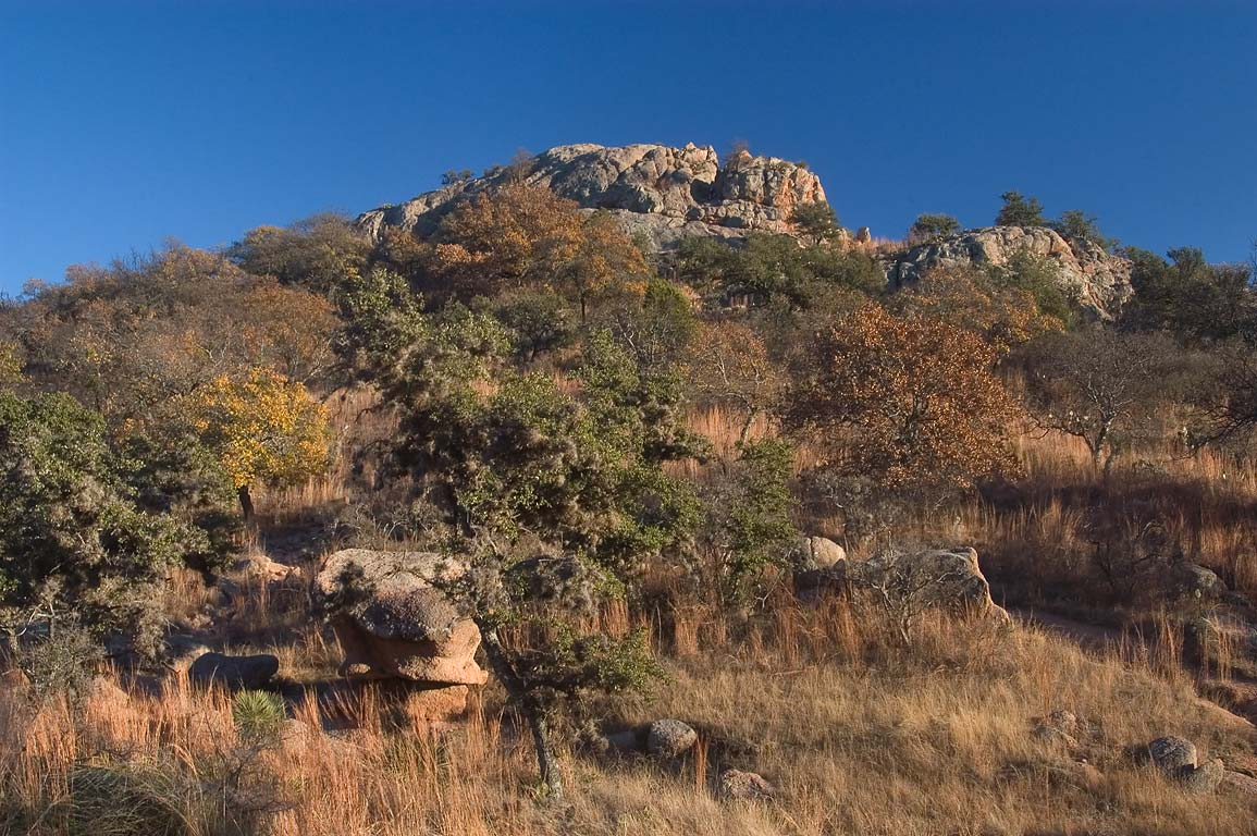 Turkey Peak in Enchanted Rock State Natural Area. Fredericksburg, Texas