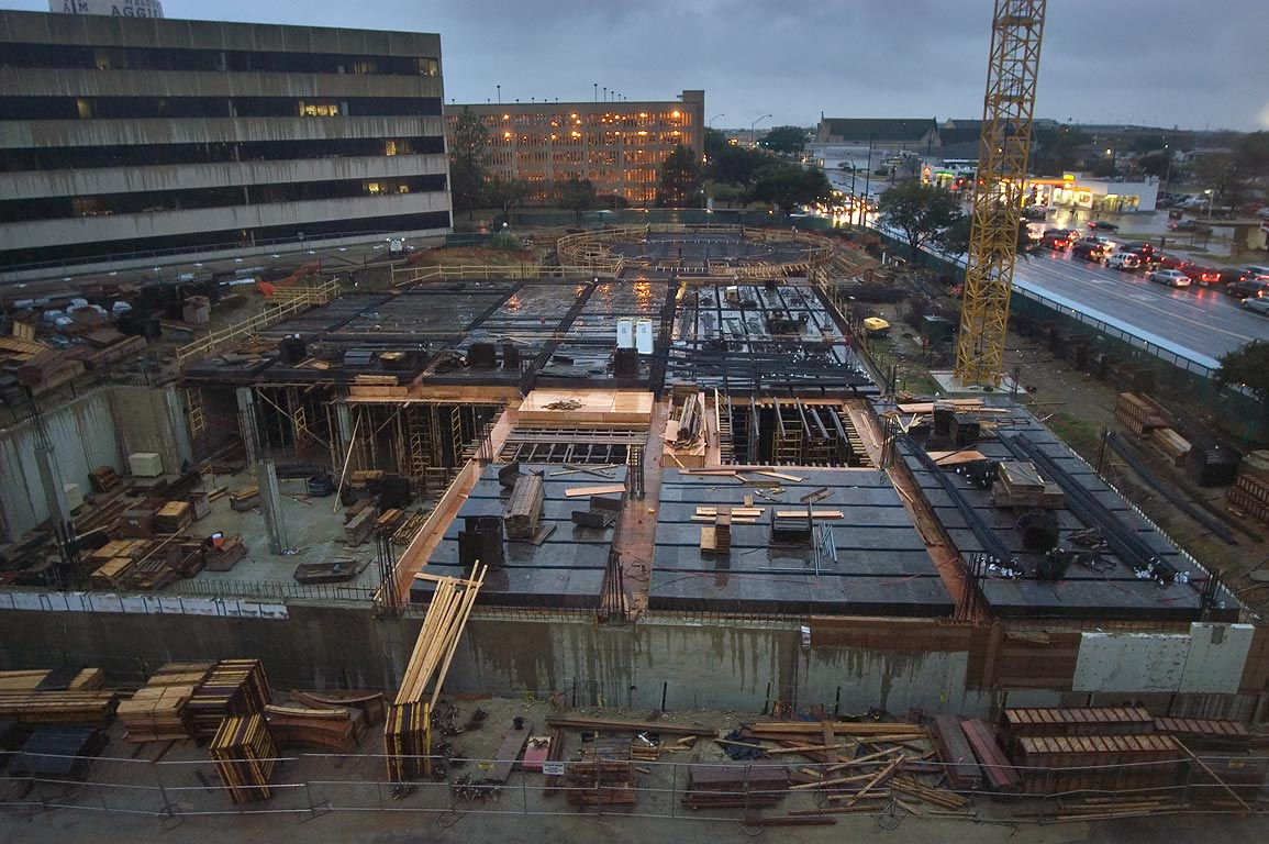 Construction of Mitchell Physics Buildings (TAMU...building. College Station, Texas