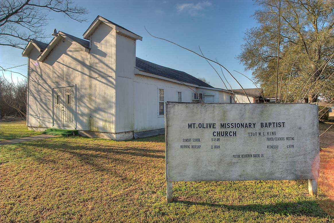 Mount Olive Missionary Baptist Church at 1300...Luther King Junior St.. Calvert, Texas