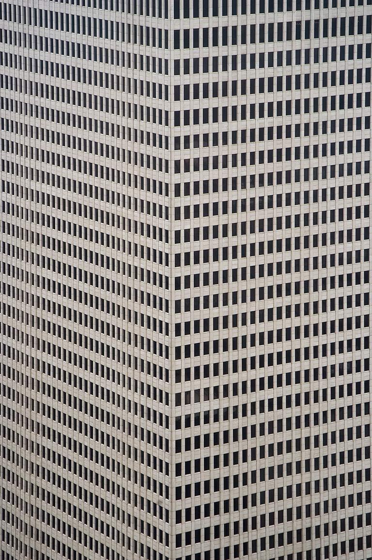 One Shell Plaza building at 910 Louisiana St. in...west from Chase Tower. Houston, Texas