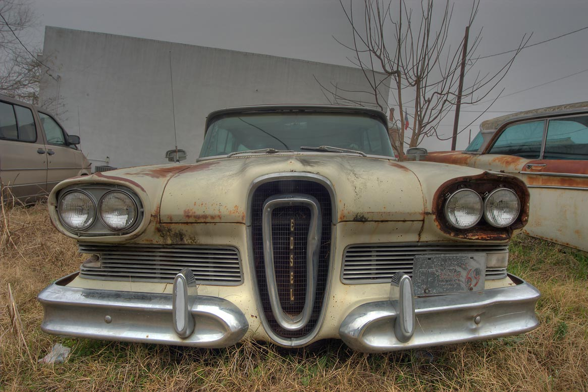 Vintage Edsel car near South Main St.. Anderson, Texas