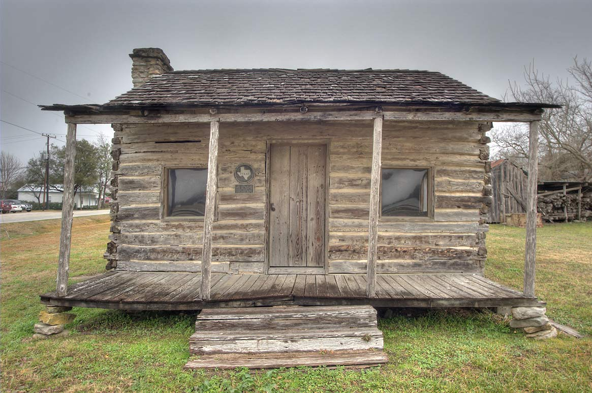 Steinhagen Log Cabin in Fanthorp Inn State Historical Site. Anderson, Texas