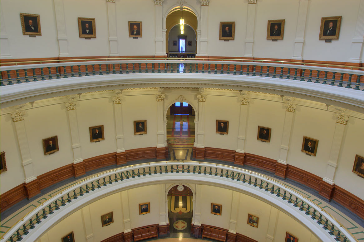 Central hall of Texas Capitol. Austin, Texas