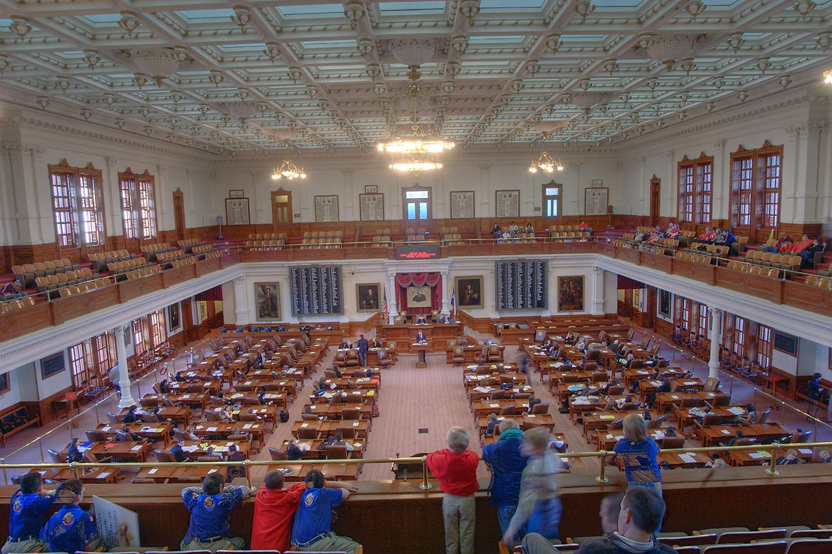 Chamber of Representatives in Texas Capitol. Austin, Texas