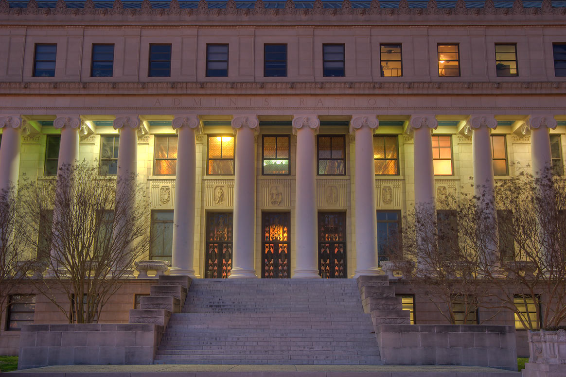 Administration Building on campus of Texas A and...at morning. College Station, Texas