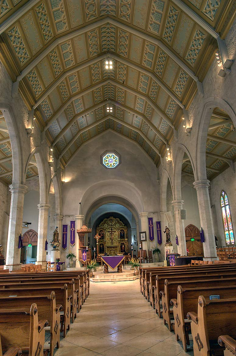 Interior of San Fernando Cathedral. San Antonio, Texas