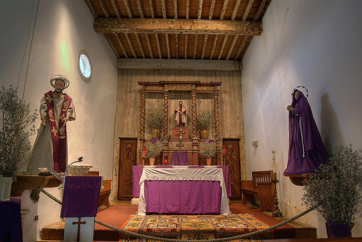 Interior of Mission San Juan . San Antonio, Texas