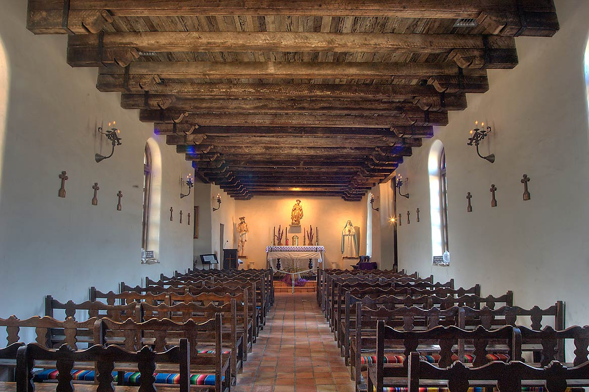 Interior of Mission Espada. San Antonio, Texas