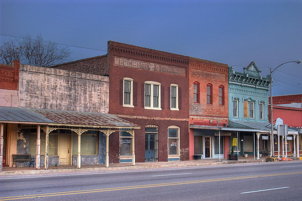 Washington, San Antonio, Calvert, Texas  - Main St. in downtown. Calvert, Texas