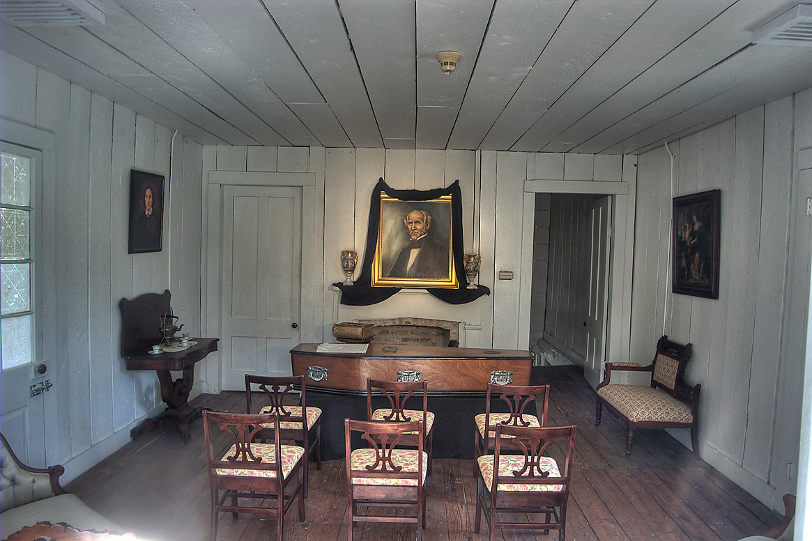 Interior of Woodland Home in Sam Houston Museum. Huntsville, Texas