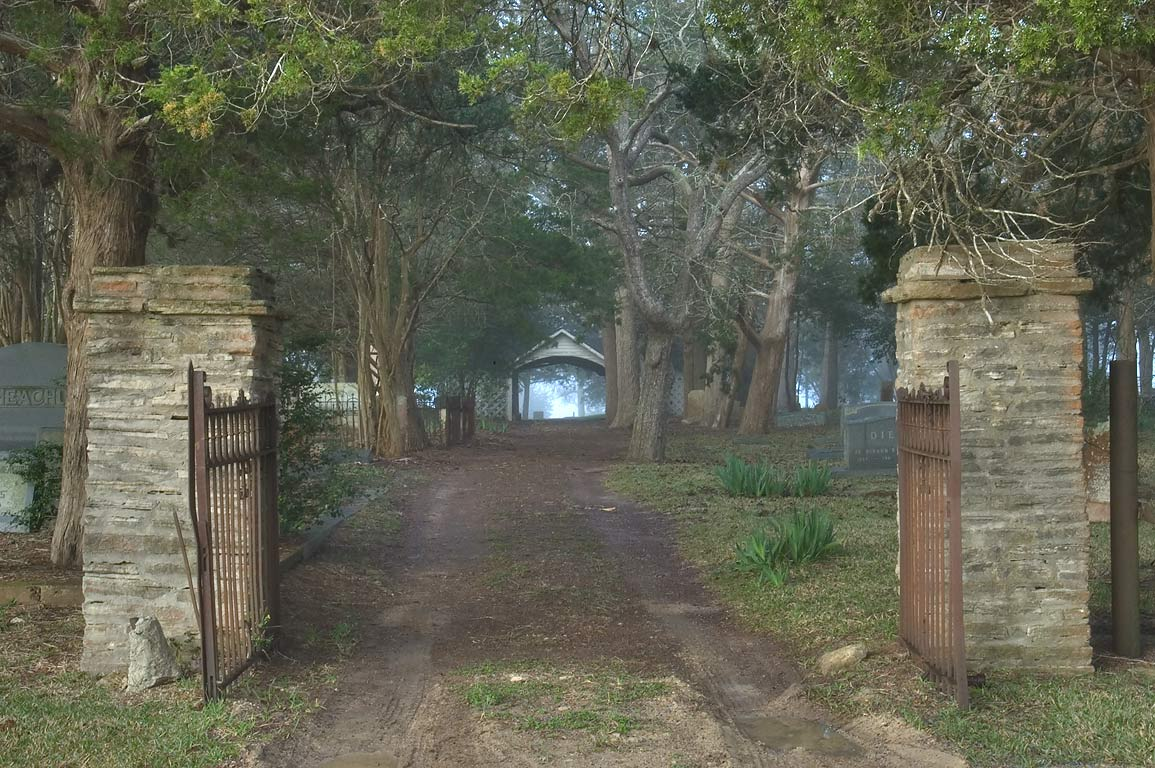 Entrance of Odd Fellow Cemetery. Anderson, Texas