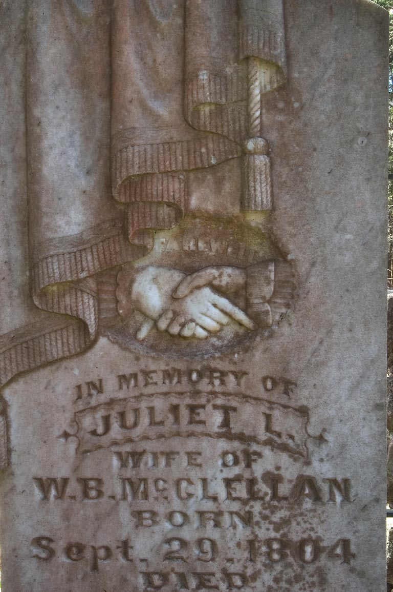 Tomb of Juliet L. in Bethany Christian Church...Christian Cemetery Rd.. Burton, Texas