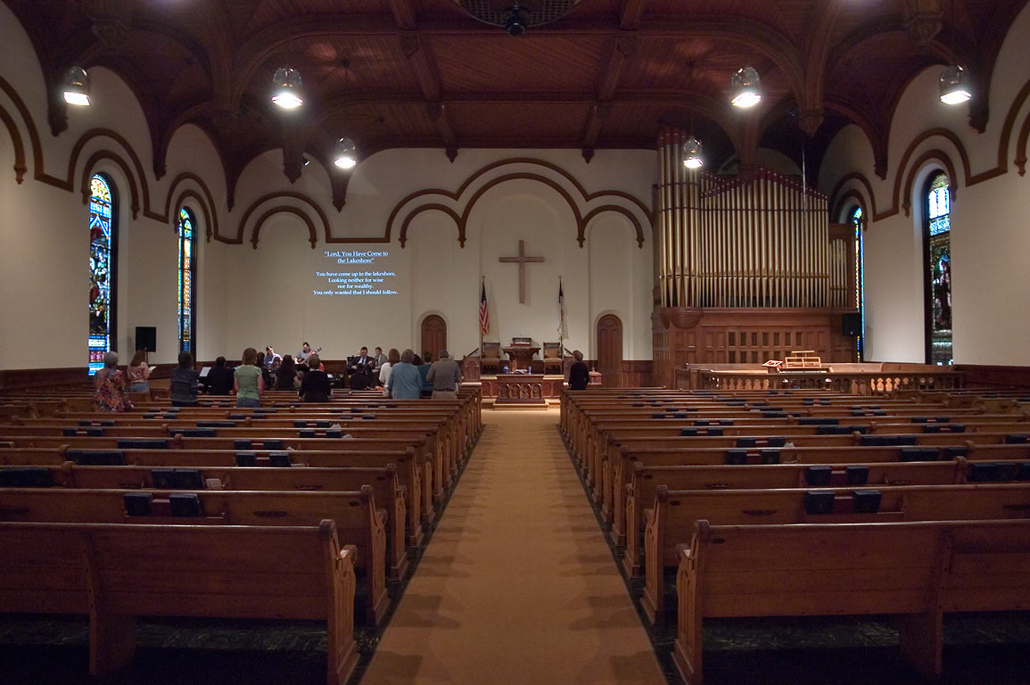 Interior of a church near 19th St. in East End Historic District. Galveston, Texas