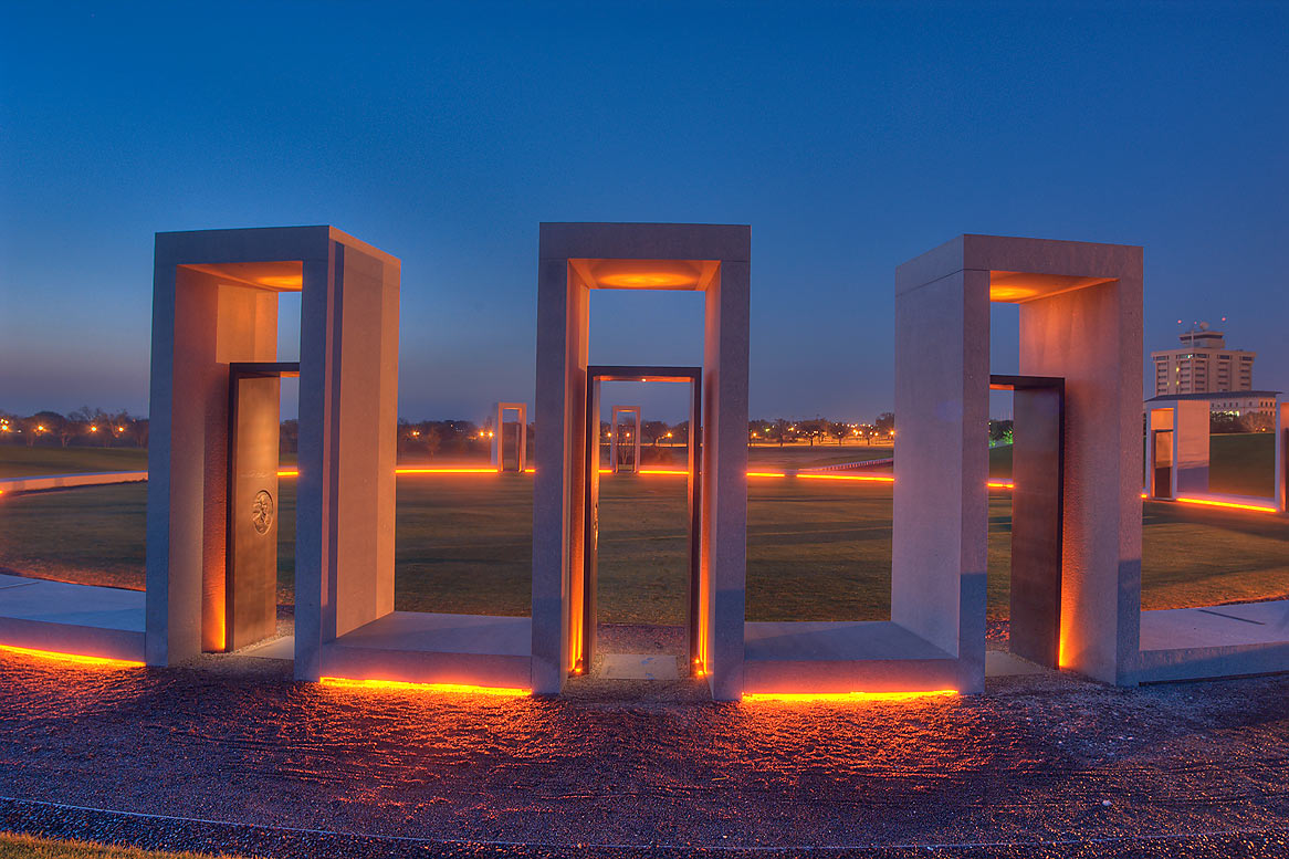Bonfire Memorial on campus of Texas A&M University at morning. College Station, Texas