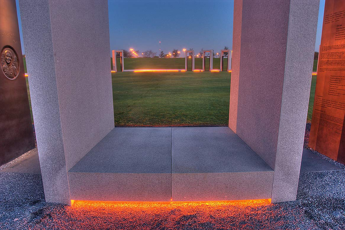 Portal of Bonfire Memorial on campus of Texas A...at morning. College Station, Texas