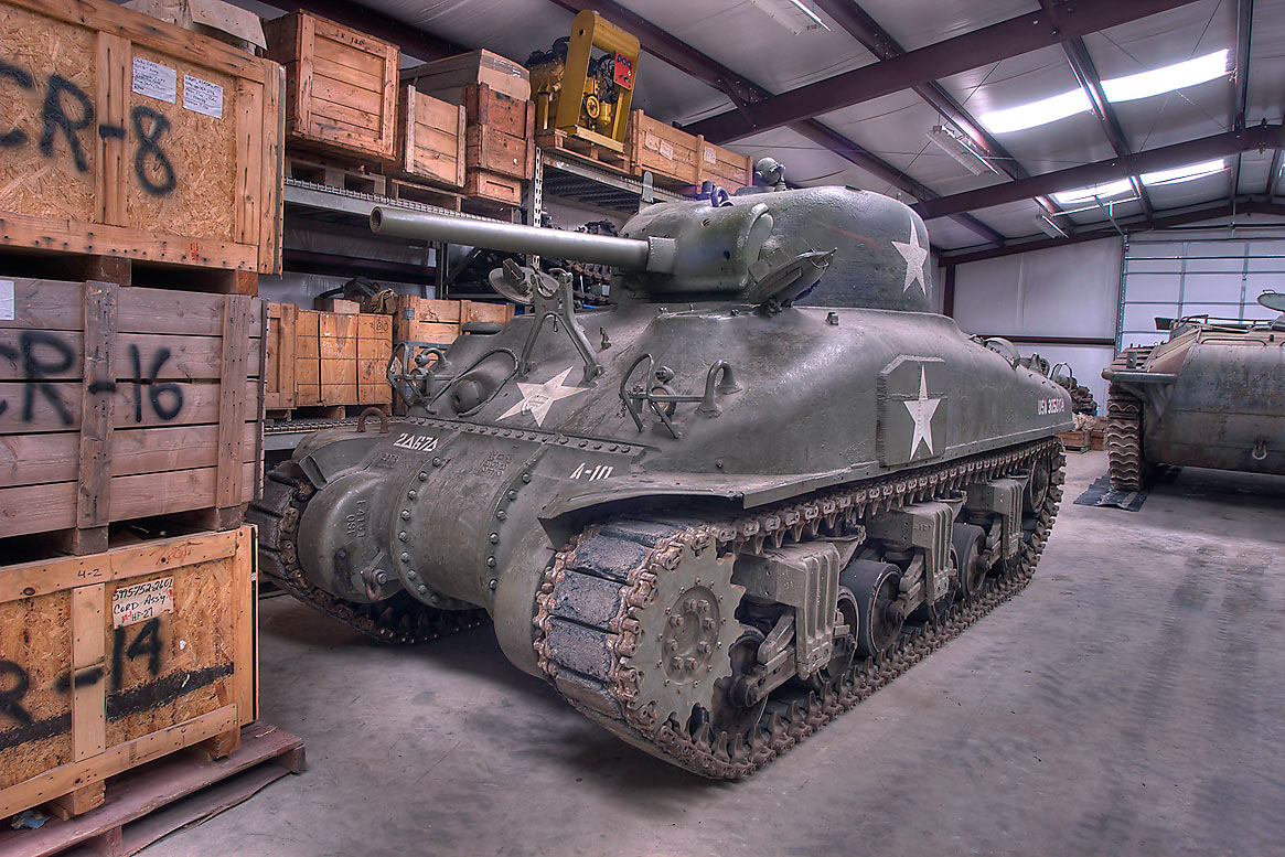 World War II M4A1 Sherman tank in Museum of the American GI. College Station, Texas