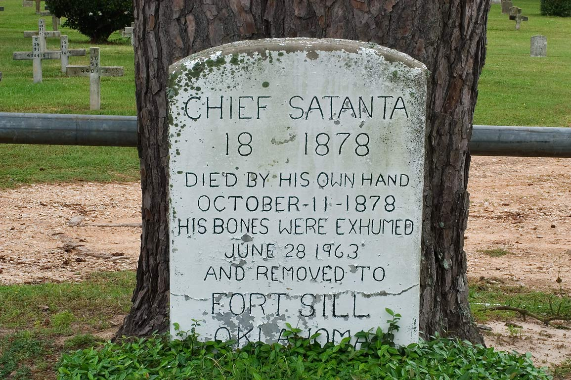 Tomb site of Chief Santanta (died in Captain Joe...Hill) Cemetery. Huntsville, Texas