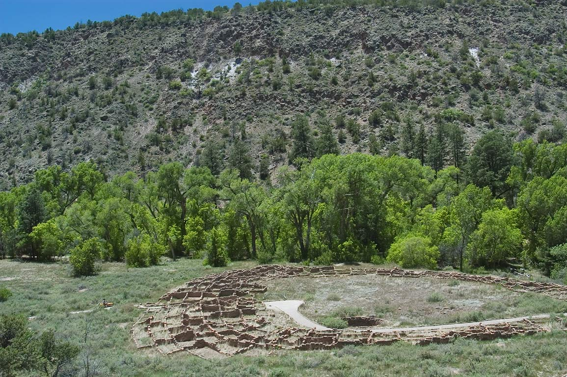Tyuonyi behind Visitor Center in Bandelier National Monument. New Mexico, near Los Alamos