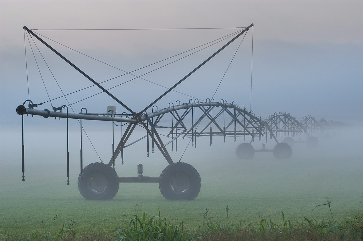 Irrigation system on agricultural field near Rd...CR 443 north from Independence. Texas