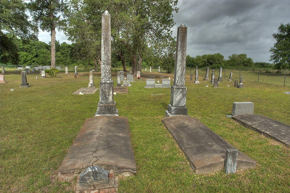 Tombs of Buck Foster Cemetery at Rd. 30 west from Huntsville. Texas