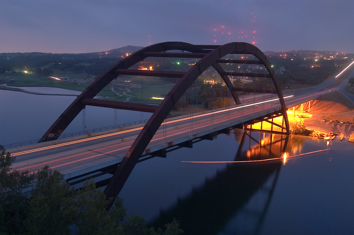 Loop 360 Pennybacker Bridge at morning. Austin, Texas